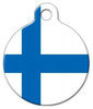 Dog Tag Art National Flag of Finland Pet ID Dog Tag