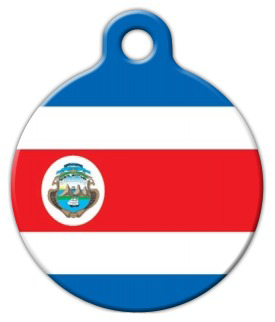 Dog Tag Art Official Flag of Costa Rica Pet ID Dog Tag