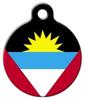 Dog Tag Art National Flag of Antigua & Barbuda Pet ID Dog Tag