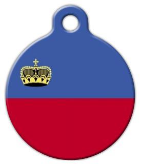 Dog Tag Art Flag of Liechtenstein Pet ID Dog Tag