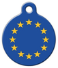 Dog Tag Art Flag of Europe Pet ID Dog Tag