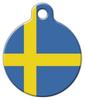 Dog Tag Art Flag of Sweden Pet ID Dog Tag