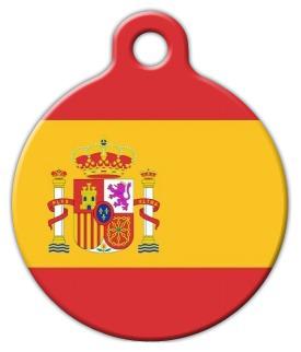 Dog Tag Art Spanish National Flag Pet ID Dog Tag