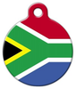 Dog Tag Art Flag of South Africa Pet ID Dog Tag