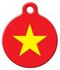 Dog Tag Art Vietnamese National Flag Pet ID Dog Tag