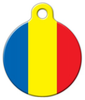 Dog Tag Art Romanian National Flag Pet ID Dog Tag