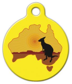 Dog Tag Art Kangaroo Australia Pet ID Dog Tag