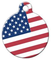 Dog Tag Art American Flag Pet ID Dog Tag