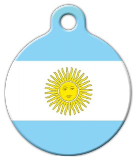 Dog Tag Art Argentina Flag Pet ID Dog Tag
