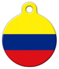 Dog Tag Art Colombia Flag Pet ID Dog Tag