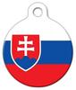Dog Tag Art Slovakia Official Flag Pet ID Dog Tag