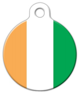 Dog Tag Art Ivory Coast Flag Pet ID Dog Tag
