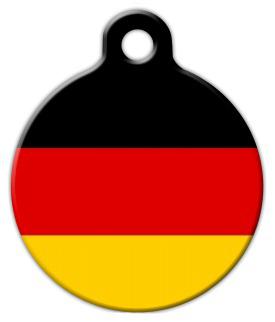 Dog Tag Art National Flag of Germany Pet ID Dog Tag