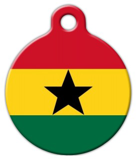 Dog Tag Art Official Flag of Ghana Pet ID Dog Tag