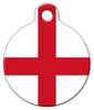 Dog Tag Art Flag of England Pet ID Dog Tag