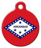 Dog Tag Art Arkansas Flag Pet ID Dog Tag