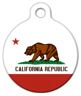 Dog Tag Art California Flag Pet ID Dog Tag