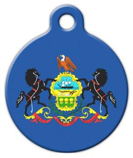 Dog Tag Art Pennsylvania Flag Pet ID Dog Tag