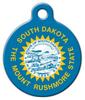 Dog Tag Art South Dakota Flag Pet ID Dog Tag