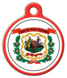 Dog Tag Art West Virginia Flag Pet ID Dog Tag