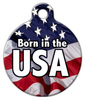 Dog Tag Art Born in the USA Pet ID Dog Tag