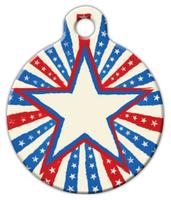 Dog Tag Art Patriotic Star Pet ID Dog Tag
