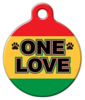 Dog Tag Art One Love Pet ID Dog Tag