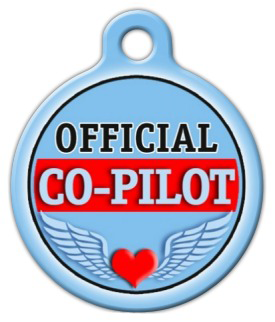 Dog Tag Art Official Co-Pilot Pet ID Dog Tag