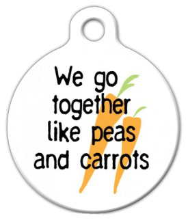 Dog Tag Art Like Peas and Carrots Carrots Pet ID Dog Tag