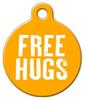 Dog Tag Art Free Hugs Pet ID Dog Tag
