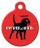 Dog Tag Art Co-Pirate Pet ID Dog Tag