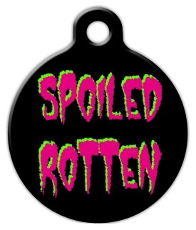 Dog Tag Art Spoiled Rotten Punk Style Pet ID Dog Tag