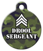 Dog Tag Art Drool Sergeant Pet ID Dog Tag