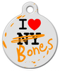 Dog Tag Art I Love Both NY and Bones Pet ID Dog Tag
