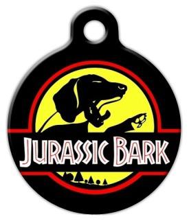 Dog Tag Art Jurassic Bark Pet ID Dog Tag