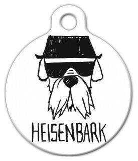 Dog Tag Art HEISENBARK Parody Pet ID Dog Tag