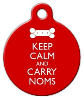 Dog Tag Art Keep Calm And Carry Noms Pet ID Dog Tag