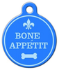 Dog Tag Art Bone Appetit Pet ID Dog Tag