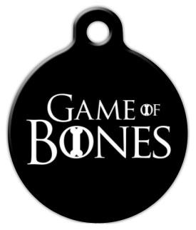 Dog Tag Art Game of Bones Pet ID Dog Tag