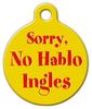 Dog Tag Art No Hablo Ingles Pet ID Dog Tag