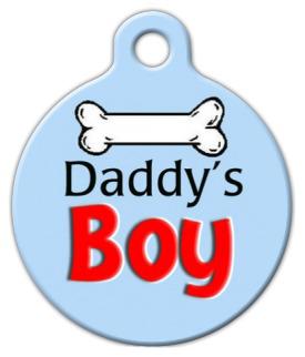 Dog Tag Art Daddy's Boy Pet ID Dog Tag