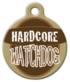 Dog Tag Art Watchdog Pet ID Dog Tag