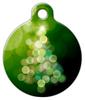 Dog Tag Art Bright Christmas Tree in Green Pet ID Dog Tag