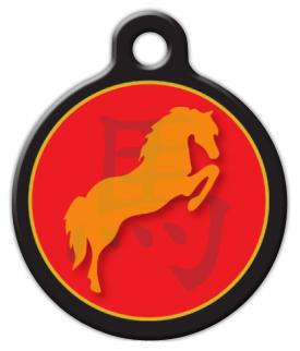 Dog Tag Art Chinese Zodiac Horse Pet ID Dog Tag