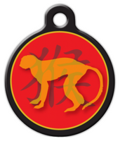 Dog Tag Art Chinese Zodiac Monkey Pet ID Dog Tag