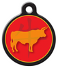 Dog Tag Art Chinese Zodiac Ox Designer Name Pet ID Dog Tag