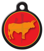 Dog Tag Art Chinese Zodiac Ox Designer Name Pet ID Dog Tag