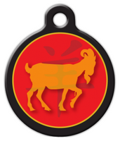 Dog Tag Art Chinese Zodiac Ram Name Pet ID Dog Tag