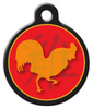 Dog Tag Art Chinese Zodiac Rooster Pet ID Dog Tag