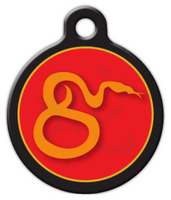 Dog Tag Art Chinese Zodiac Snake Pet ID Dog Tag